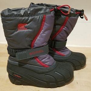 Kids Unisez Sorel snow boots sz 1